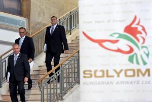 A Sólyom Hungarian Airways elsõ sajtótájékoztatója